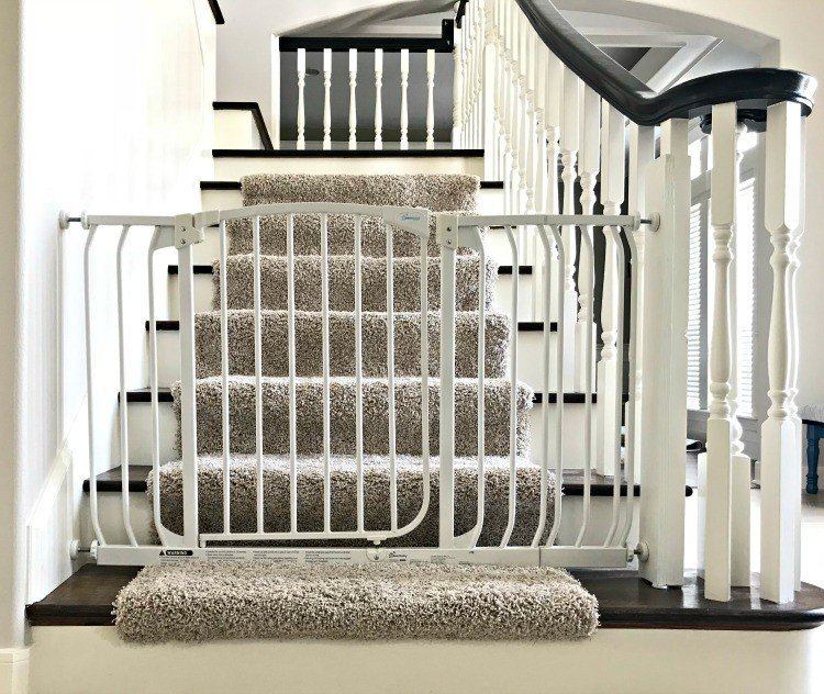 Cheap DIY Baby Gate Hack for Stairs – With No Holes!