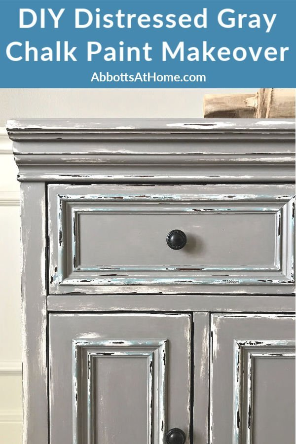 diy gray chalk paint furniture makeover