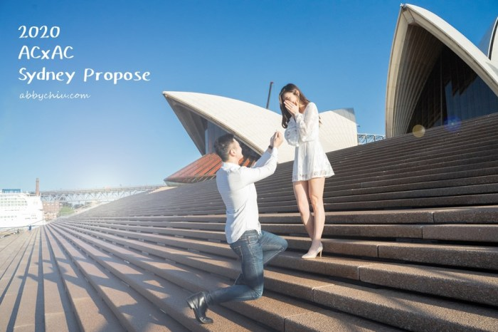 AC夫婦求婚篇   20200214情人節的驚喜求婚記 雪梨求婚