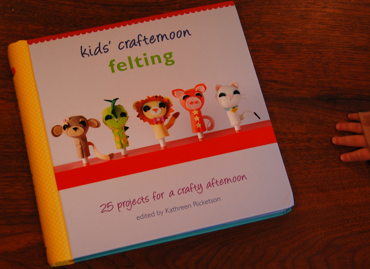 My Finger Puppets Are On The Cover Of Kids Crafternoon Felting