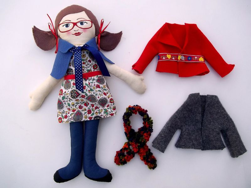 Handmade doll by rachel lindquist