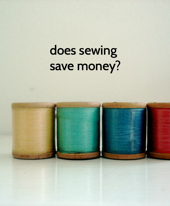 does sewing save money