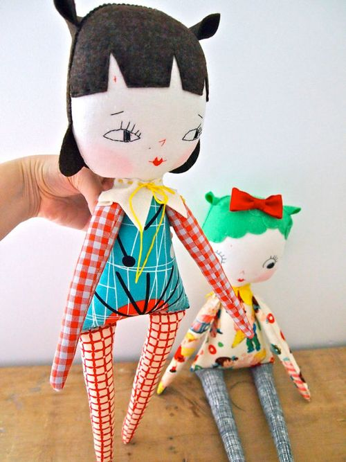 Black Haired Rag Doll by Jess Quinn