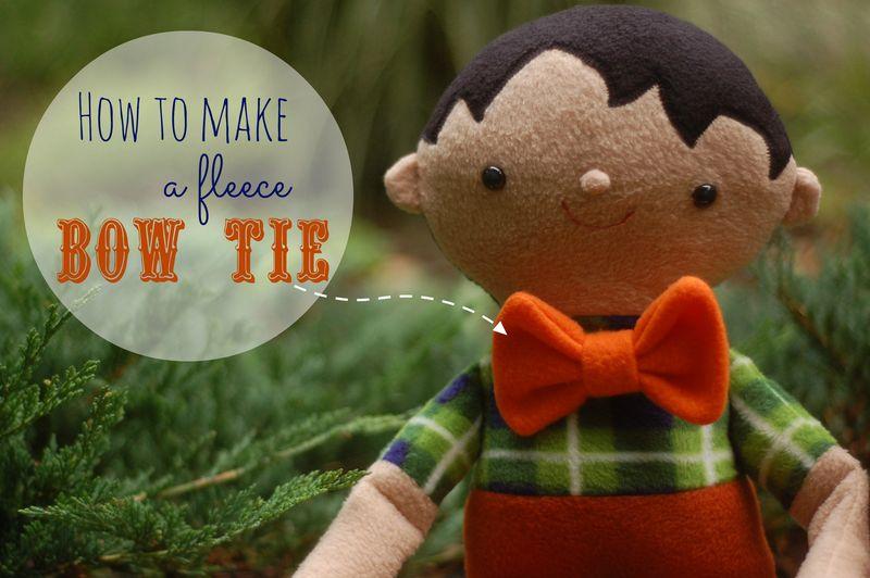 Fleece bow tie