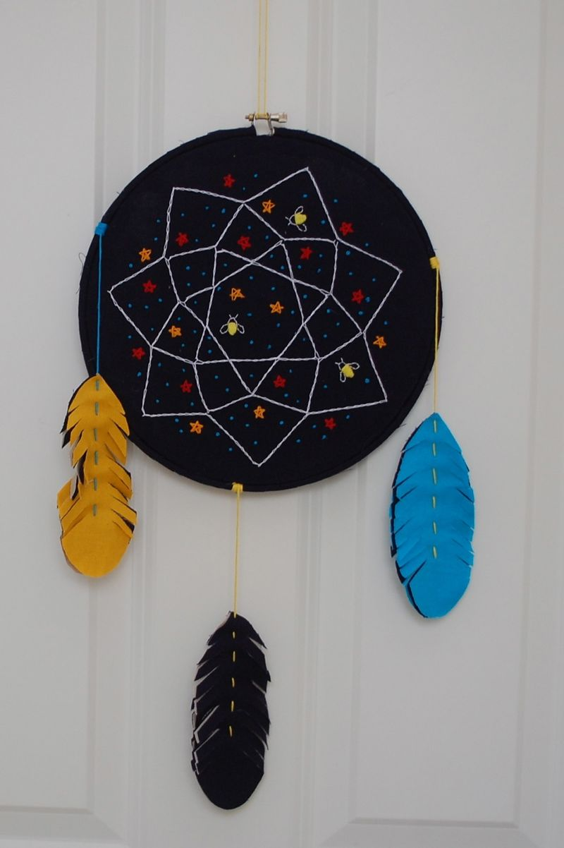 Embroidered dream catcher