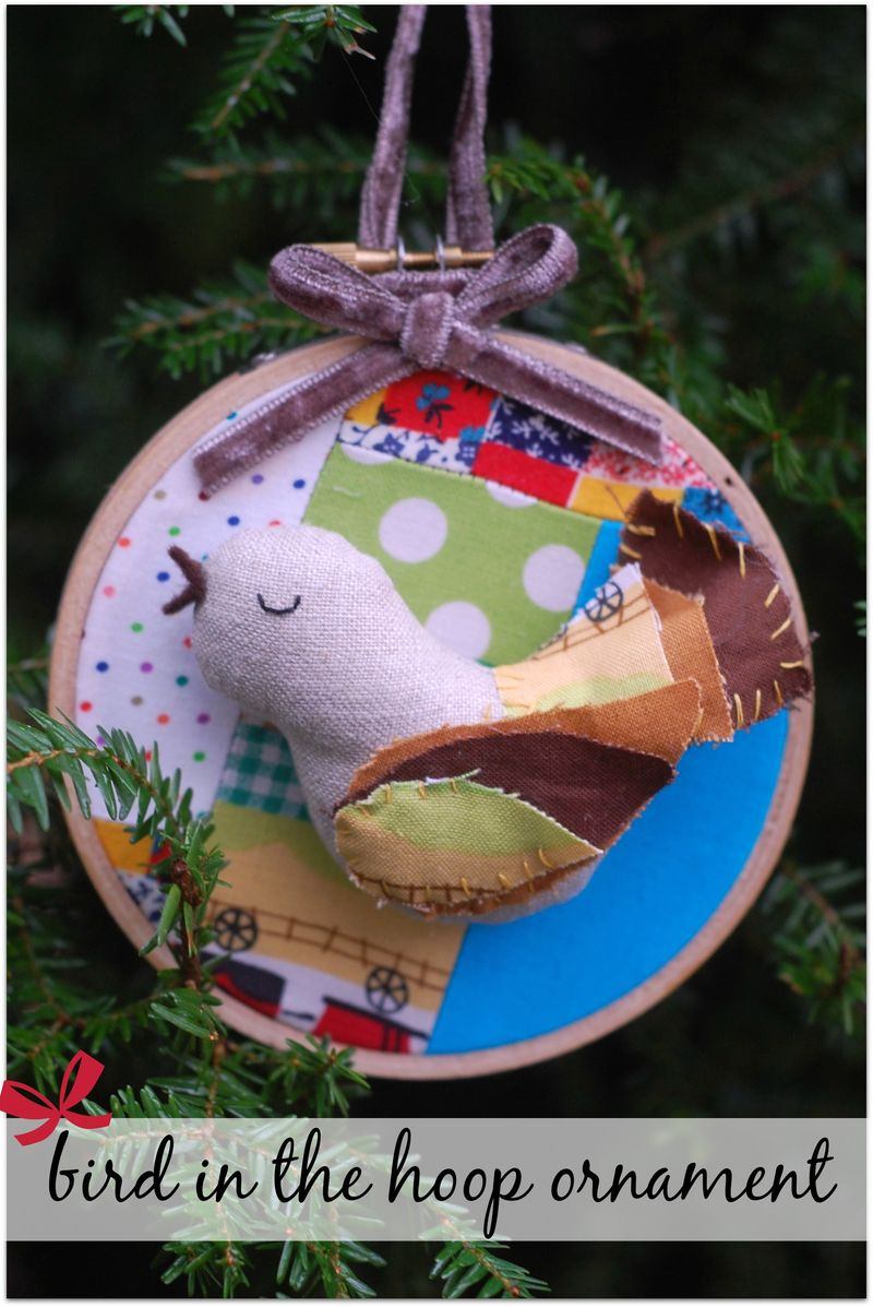 Bird in the Hoop Ornament