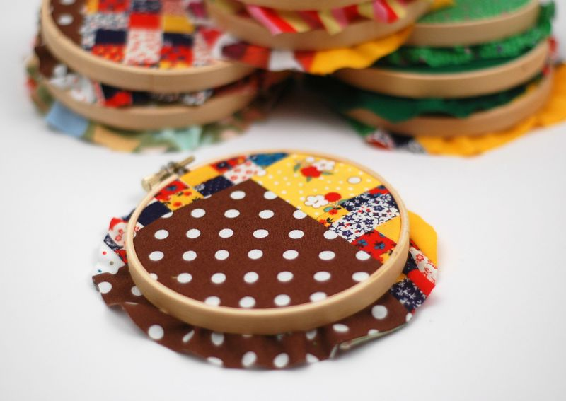 Patchwork hoops