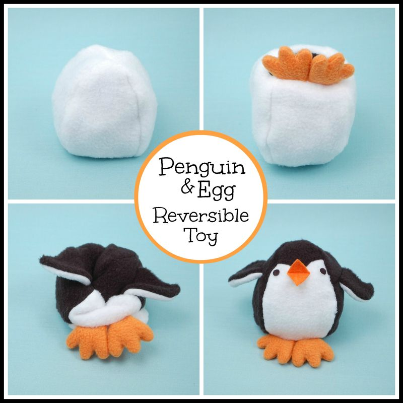 Penguin and Egg Collage