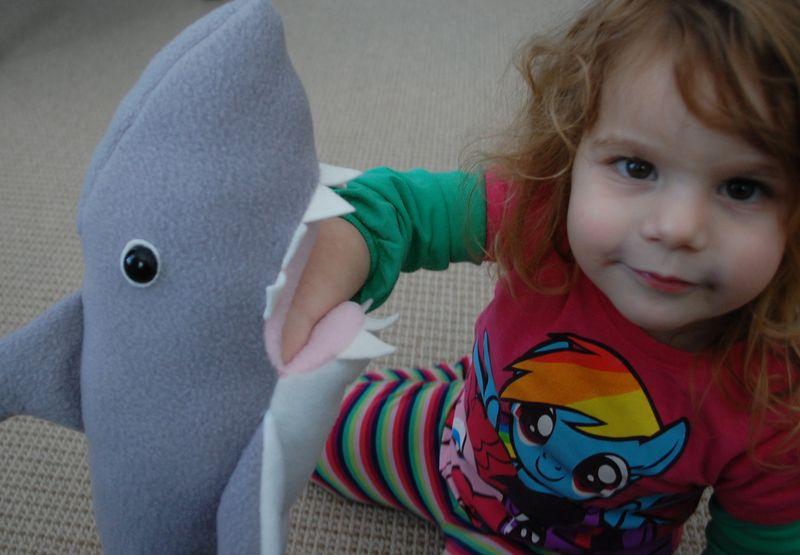 Girl and Shark