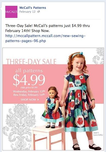 McCalls Facebook Update
