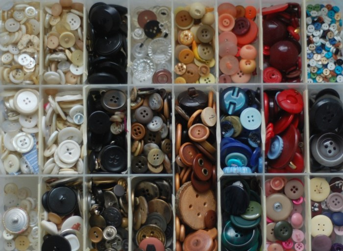 sorted buttons