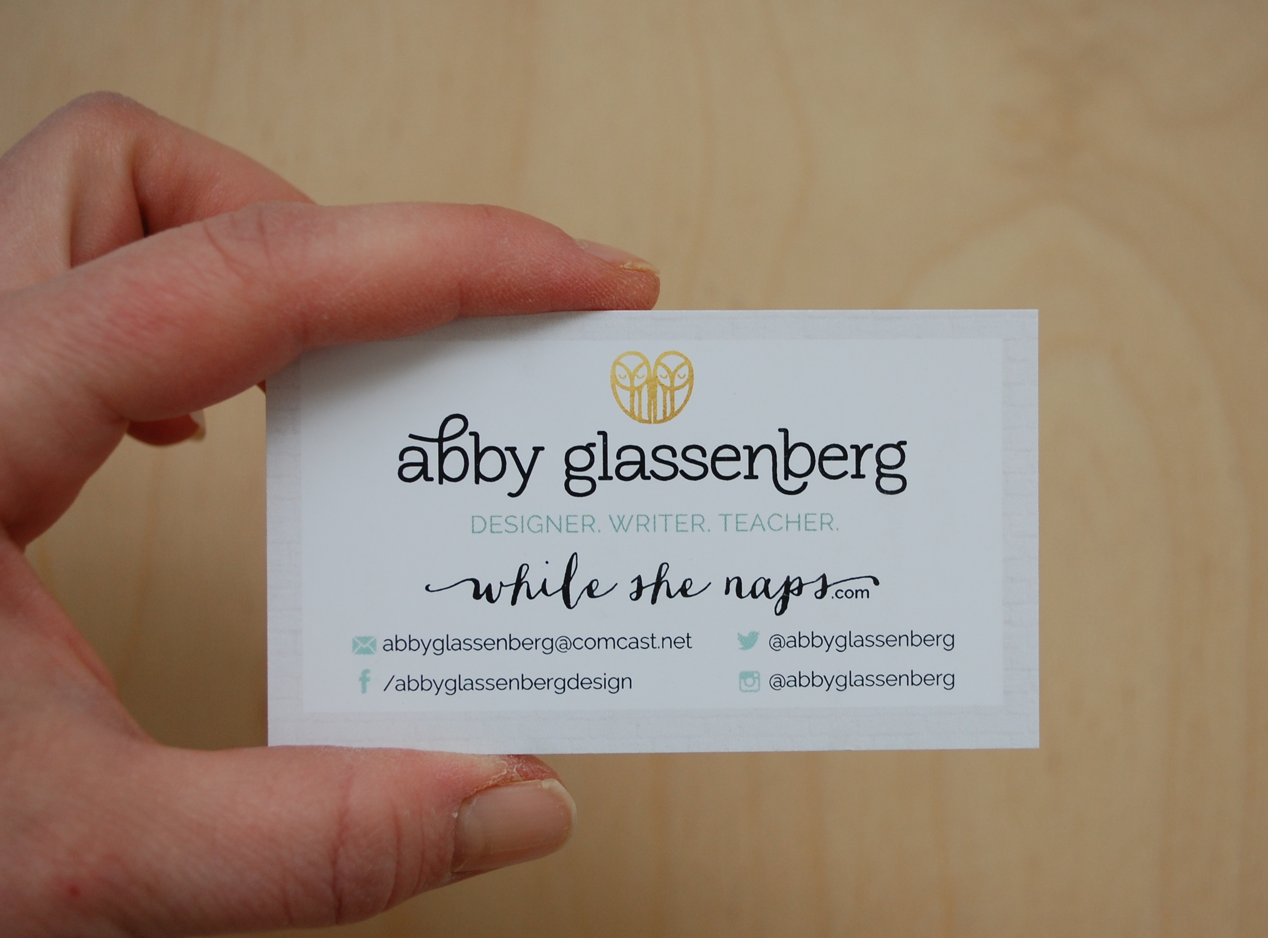 On becoming a freelance writer whileshenaps in the process im proving to myself that i can do this i can be a designer and a teacher and a writer i even put it on my business card colourmoves
