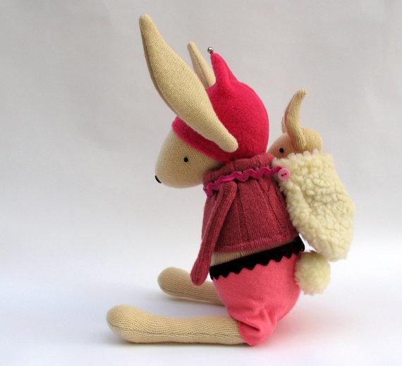 woolen bunny by skippity hop creatures