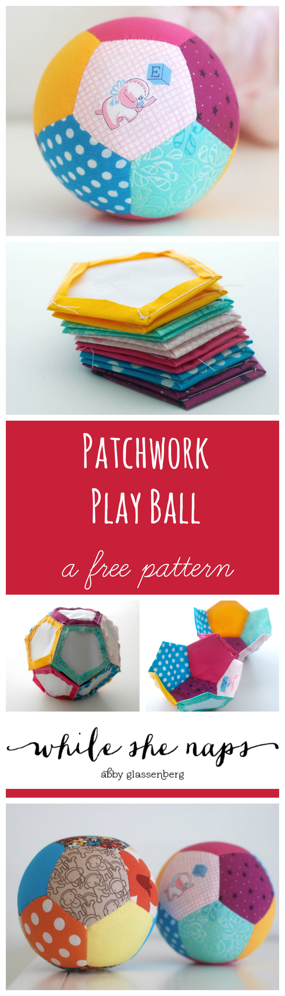Patchwork Ball Collage