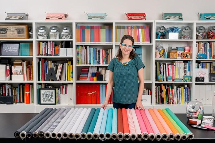 Janine Vangool with Fabrics