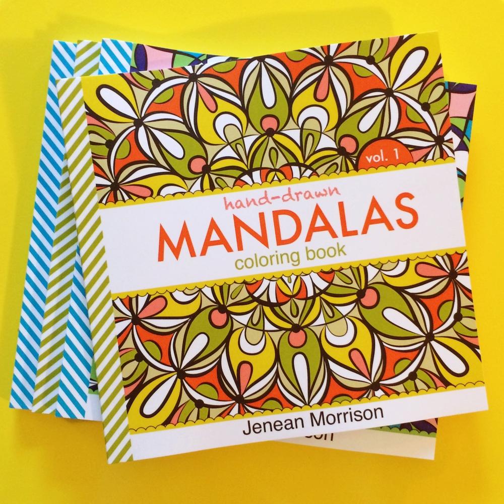 Hand-Drawn+Mandalas,+Volumes+1+&+2+by+Jenean+Morrison