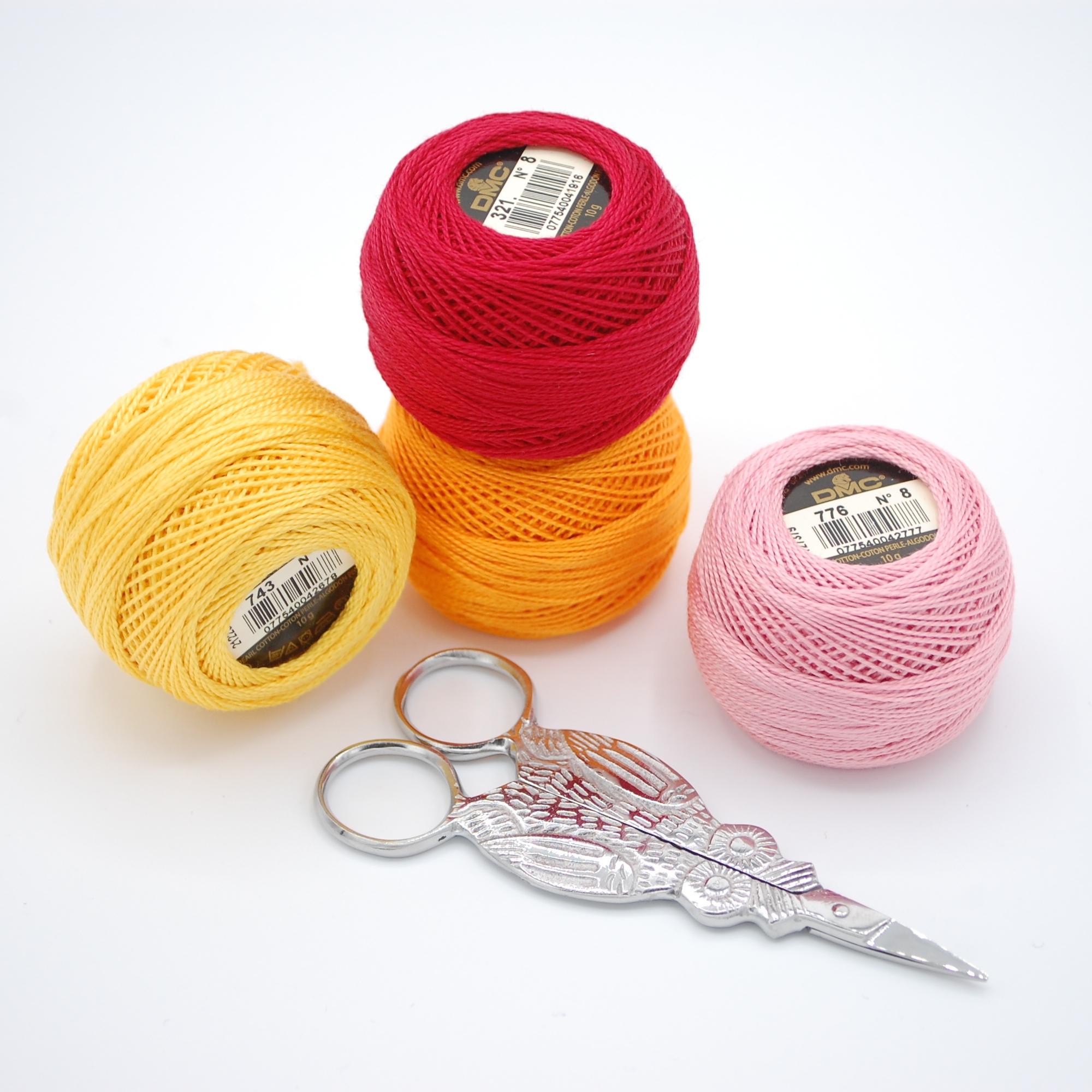 Perle cotton and scissors