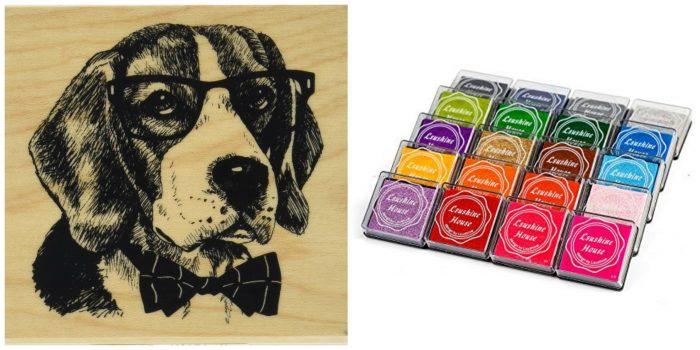 Dog Stamp and inks