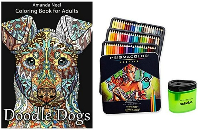 Doodle Dogs and colored pencils