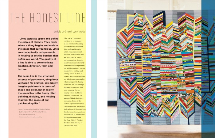 Curated Quilts magazine article by Sherri Lynn Wood