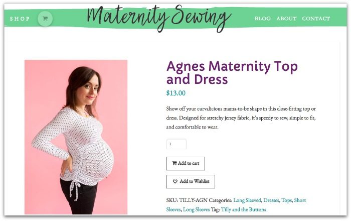 Agnes Maternity Top
