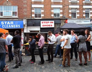 Queuing for street food