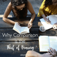 Why Comparison is the Thief of Bravery