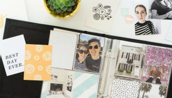 Photo album and scrapbooking supplies for documenting your life