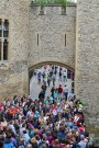 Crowds at the Tower of London.
