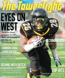 A cover collaboration between myself and Devorah Roberts in a magazine style, talking about the now-NFL-drafted Terrance West.