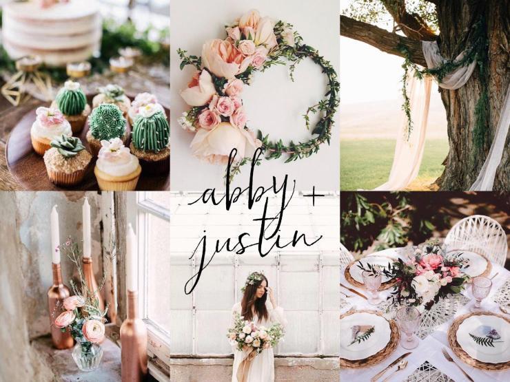 Abby + Justin: Garden Wedding Inspiration Board