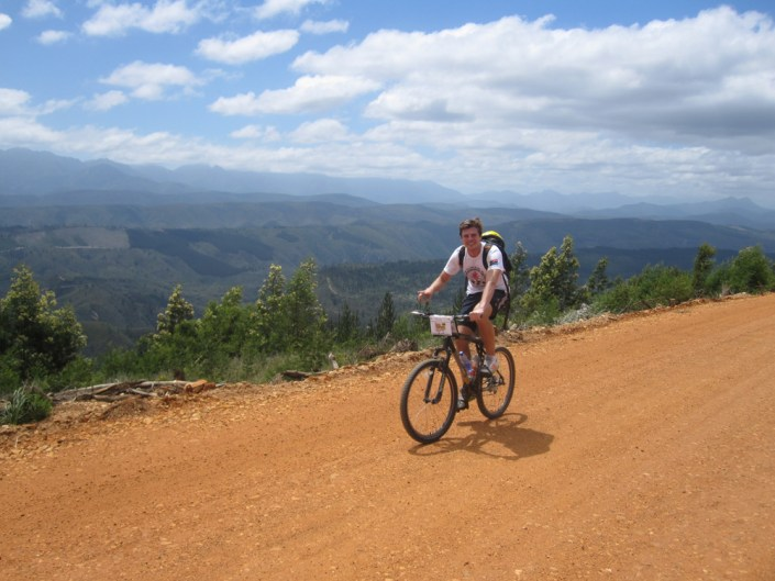 ABC bike and hike challenge - Rider poses for a great photo on his bike.