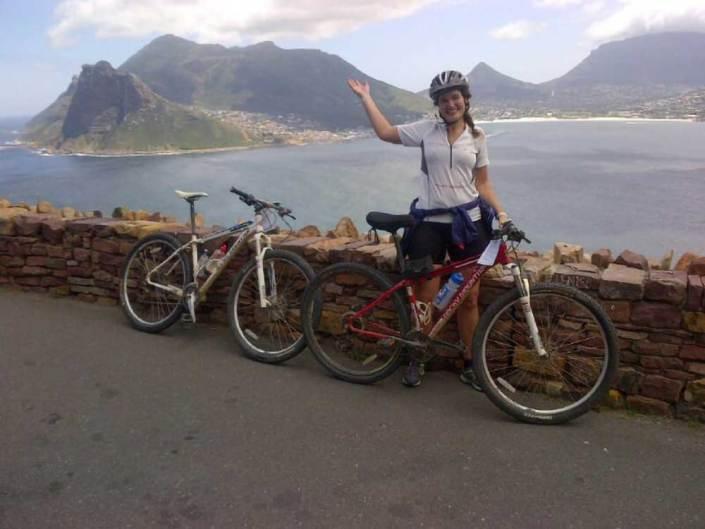 ABC bike and hike challenge - Biker and scenery
