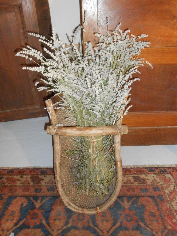 Corbeille ramassage lavande et fleurs (Provence)