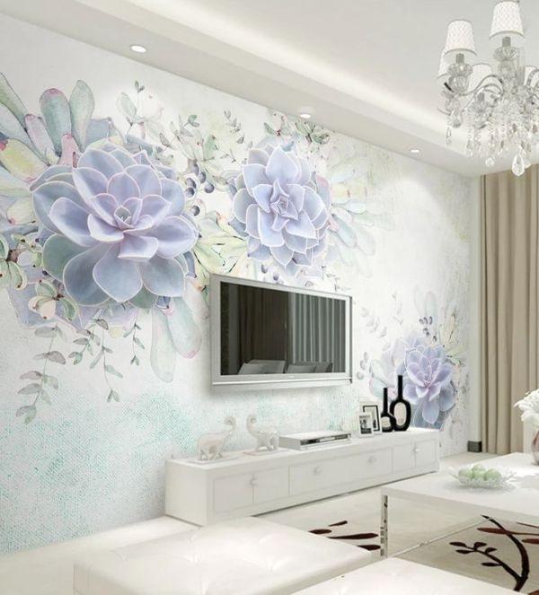 Фотообои Цветы каменной розы №dec-291 - цена, фото, отзывы ...