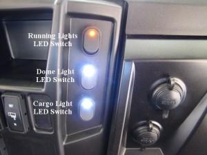 EZ LED Dome Light Kit: Polaris Ranger RZR Crew Diesel