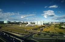 Vista aérea mostra Esplanada dos Ministérios em Brasília. Foto: Getty Images / BBC News Brasil