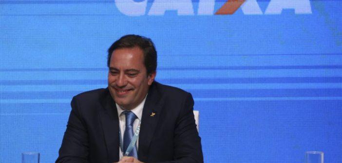 O novo presidente da Caixa Econômica Federal, Pedro Guimarães, durante a cerimônia de transmissão do cargo. Foto: Valter Campanato/Agência Brasil