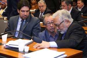 Secretário-executivo da ABC com o secretário Nacional de Habitação, Celso Matsuda, e o assessor especial do Ministro, Vinicius Bernardes. Foto: Arquivo ABC