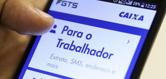 Aplicativo Caixa Econômica Federal- FGTS. Foto: Marcelo Camargo/Agência Brasil