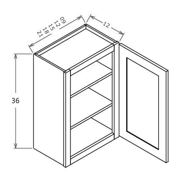 "36"" High Single Door Wall Cabinet - ABCabinetry"