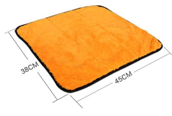 Super gruby pluszowy ręcznik z mikrofibry do osuszania i pielęgnacji samochodu