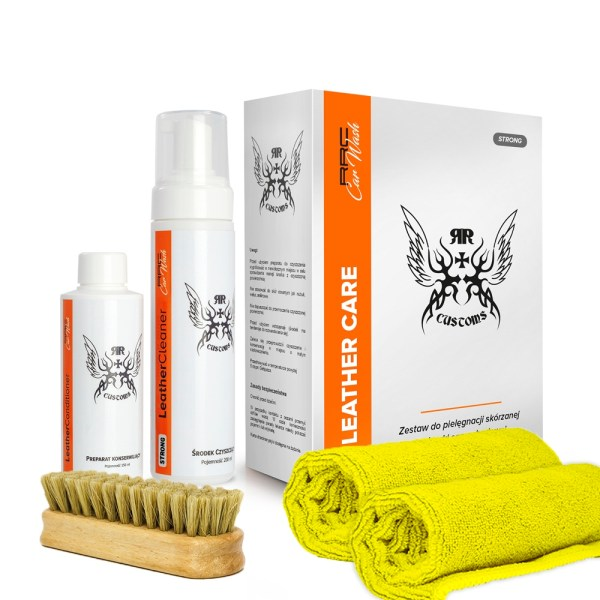 RR Customs Leather Care Box Soft – zestaw do czyszczenia skór