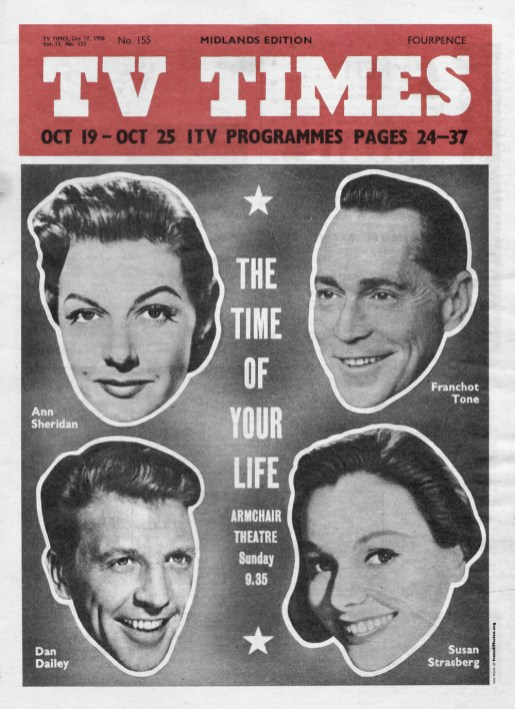 Ann Sheridan, Franchot Tone, Dan Dailey and Susan Strasberg in The Time of Your Life