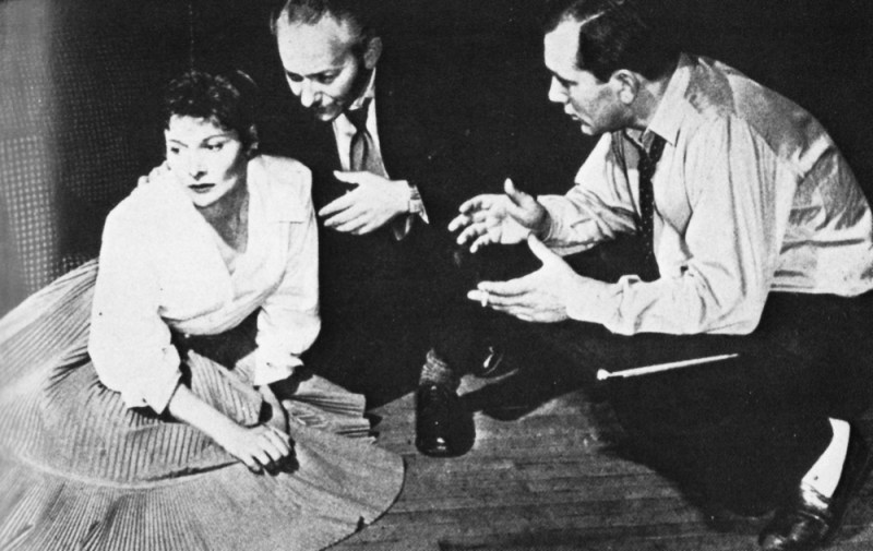 Dennis Vance directs Adrienne Corri and David Kossoff in Armchair Theatre's 'The Outsider'