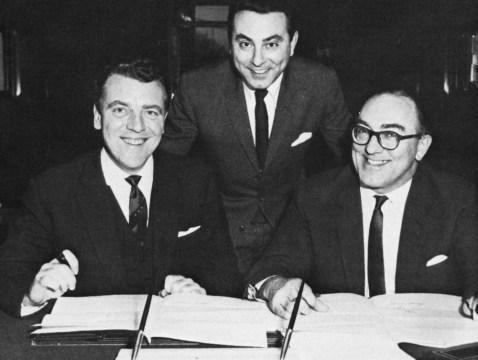 Eamonn Andrews, Brian Tesler and Howard Thomas