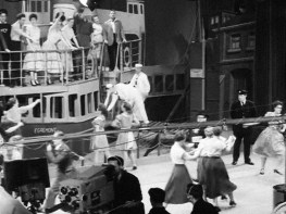 Stills from British Pathé filming of the rehearsals and televised show