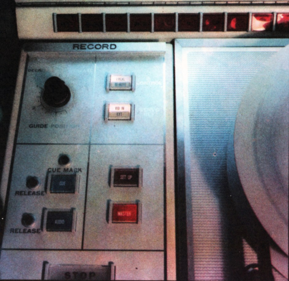The manual control panel of a new RCA TR22 video tape recorder. Normally run from a studio control suite, and instantly switchable between line standards, these machines are also capable of recording colour. Any operational breakdown is immediately identified by a red light in one of the fault indicators above the panel.