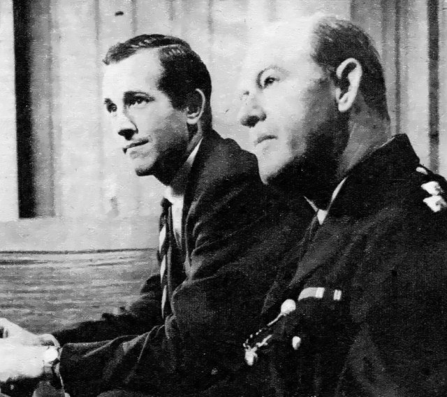Ian Hendry, left, plays the doctor. Right, John Warwick