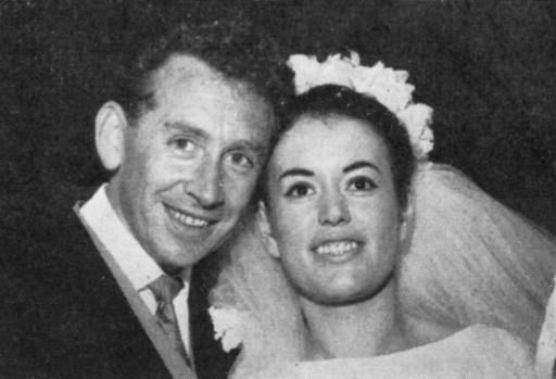 LILIAN ARCHIBALD, Telephonist, Didsbury, with new husband carl Brian Sutcliffe